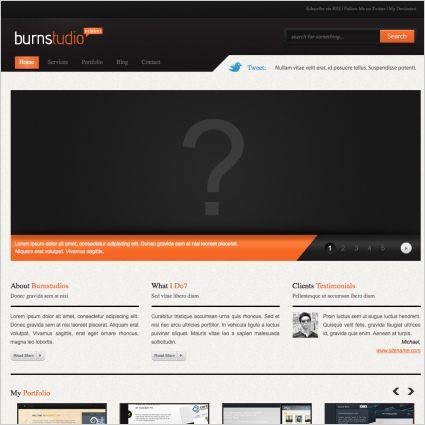 BurnStudio Template