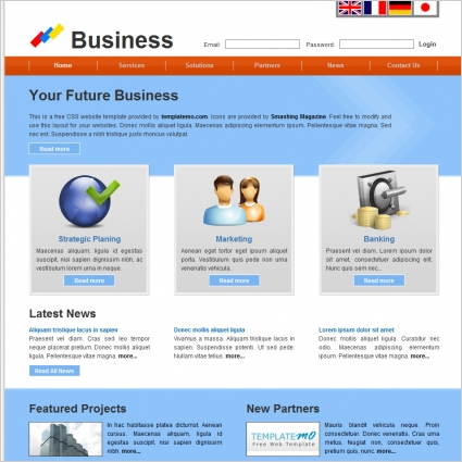 Business free website templates in css html js format for free business free website templates in css html js format for free download 13388kb friedricerecipe Image collections