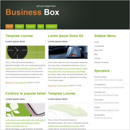 Business Box Template