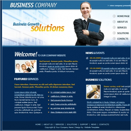 Business company template free website templates in css html js business company template wajeb Gallery
