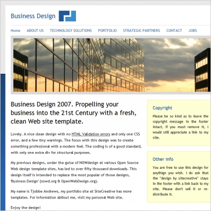 Business Design 2007 Template