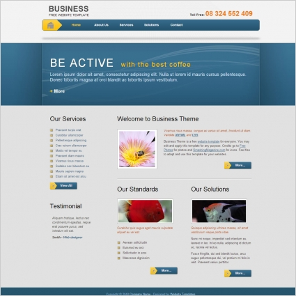 Business template free website templates in css html js format for business template flashek