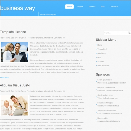 Business Way Template