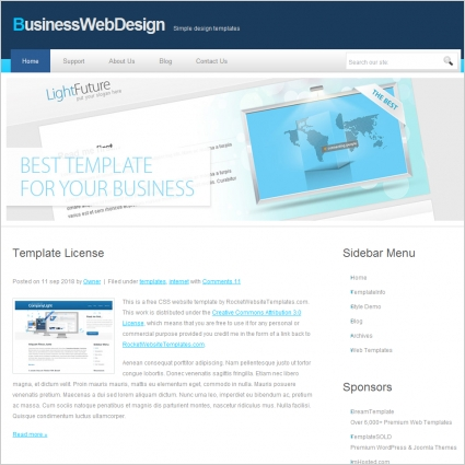 Business web design template free website templates in css html js business web design template cheaphphosting Images