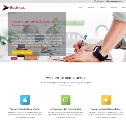 Business website template free website templates in css html js business website template friedricerecipe Gallery