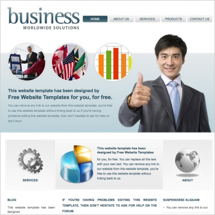 Business worldwide solutions template free website templates in css business worldwide solutions template accmission