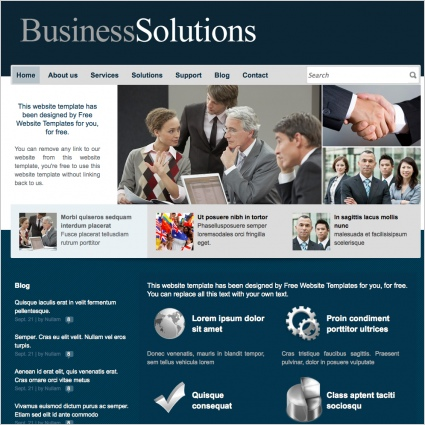 BusinessSolutions Template