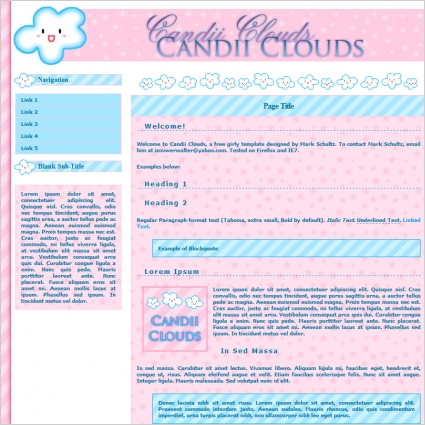 Candii Clouds Template