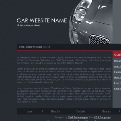 Car website template free website templates in css html js format car website template maxwellsz