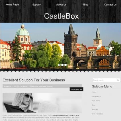 Castle Box Template