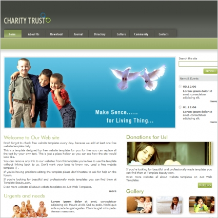 Charity Trust Template Free website templates in css, html, js ...