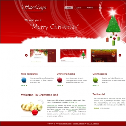 Christmas tree | free html e-mail templates.