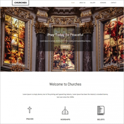 churche website template