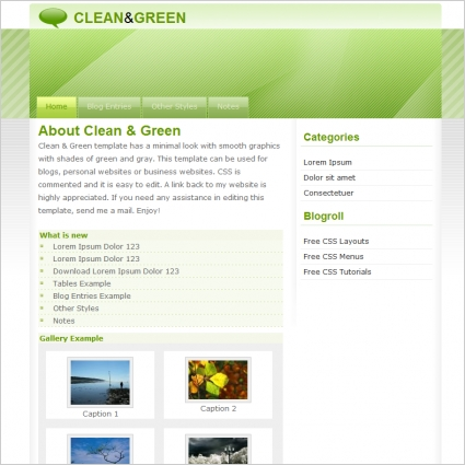 Clean & Green Template