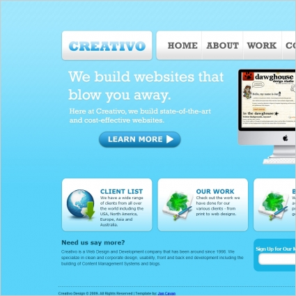 Clean Web 2.0 Template