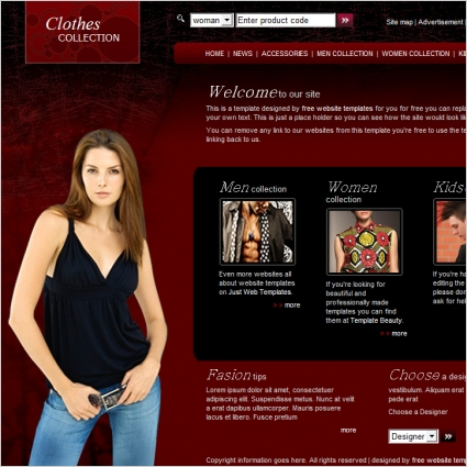 Clothes Collection Template Online Preview