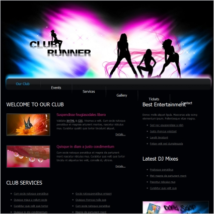 Club Free Website Templates In Css Html Js Format For Free