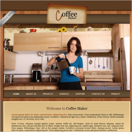 Coffee Maker Template