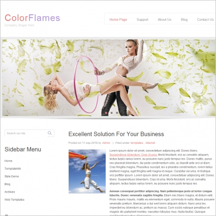 Color Flames Template