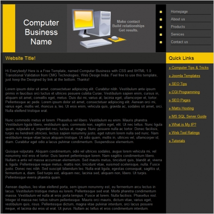 Computer Business Template Free website templates in css, html, js ...