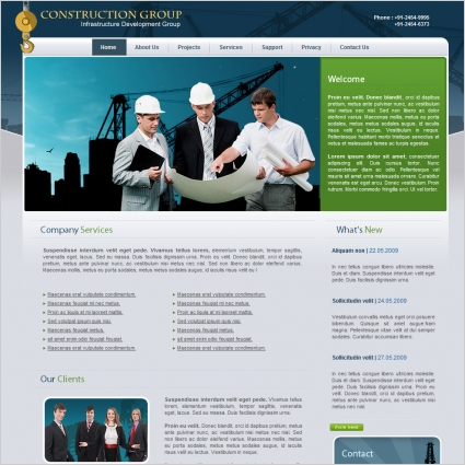 Construction Group Template Free website templates in css, html, js ...