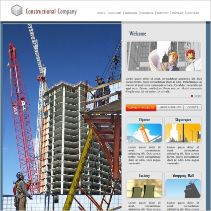 Constructional Company Template