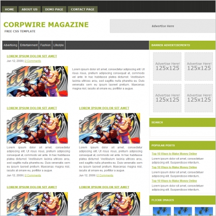 corpwire magazine template free website templates in css html js