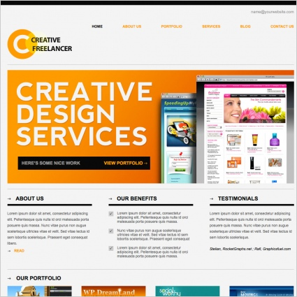 Creative Freelancer Template Free Website Templates In Css Html Js