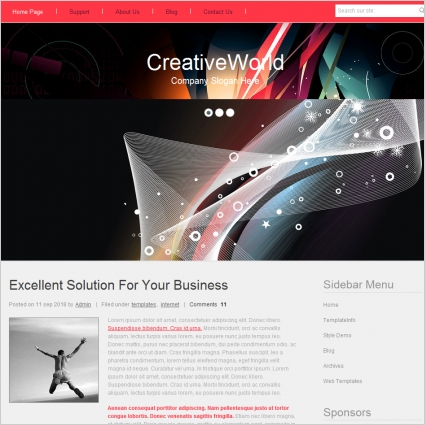 Creative World Template Free website templates in css, html, js ...