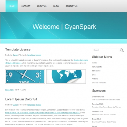 cyan spark template free website templates in css html. Black Bedroom Furniture Sets. Home Design Ideas