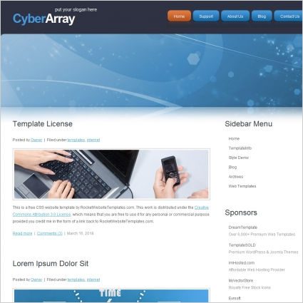 Cyber Array Template