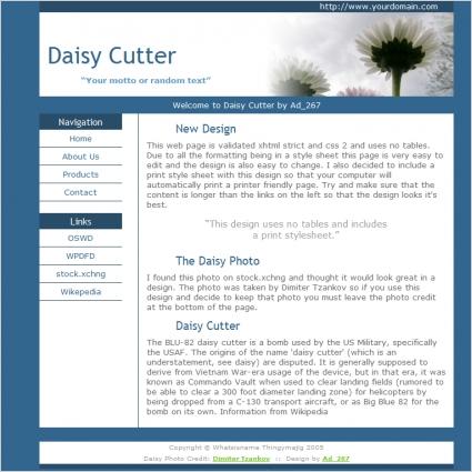 Daisy Cutter Template