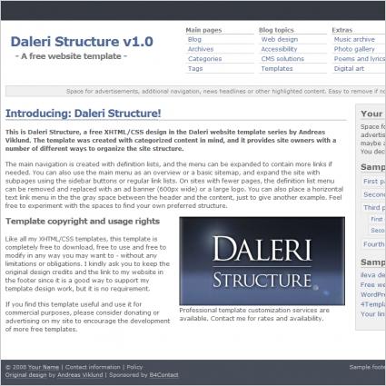 Daleri Structure v1.0 Template