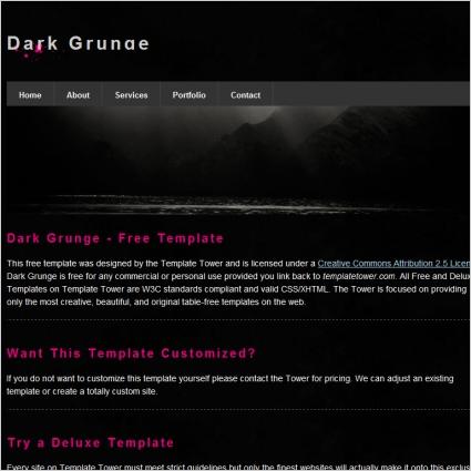 Dark Grunge Template