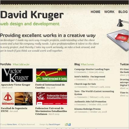 David Kruger Template