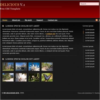 Delicious V.1 Template