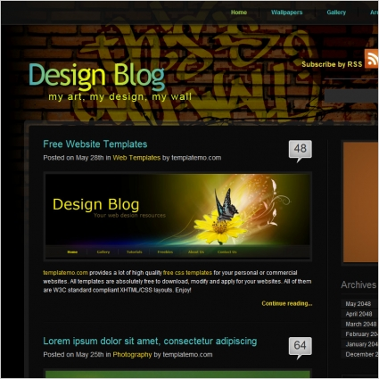 Design Blog Free Website Templates In Css Html Js Format For Free - Online art gallery website template