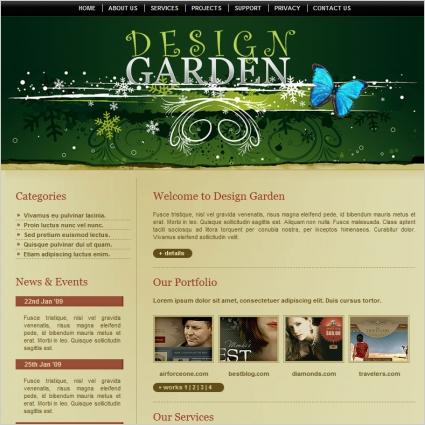 design garden template free website templates in css html