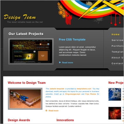 design team free website templates in css html js format for free