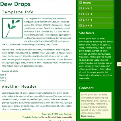 Dew Drops Template
