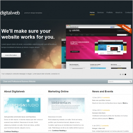 Digital Web Template