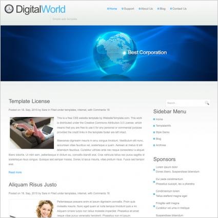 DigitalWorld Template