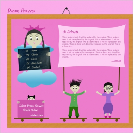 dream princess template free website templates in css html js