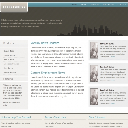 Eco business Template