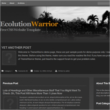 Ecolution Warrior Template