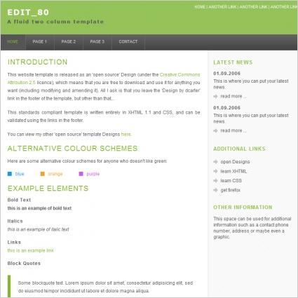 Edit 80 Template