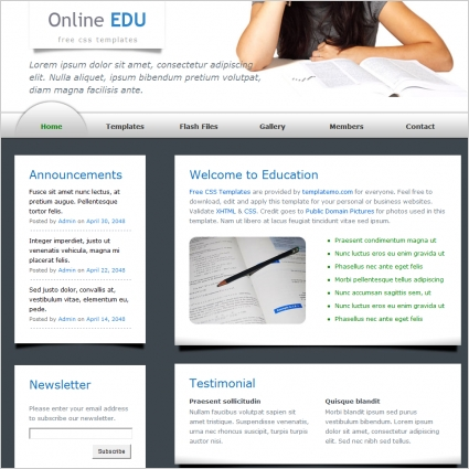 education Free website templates in css, html, js format for free ...