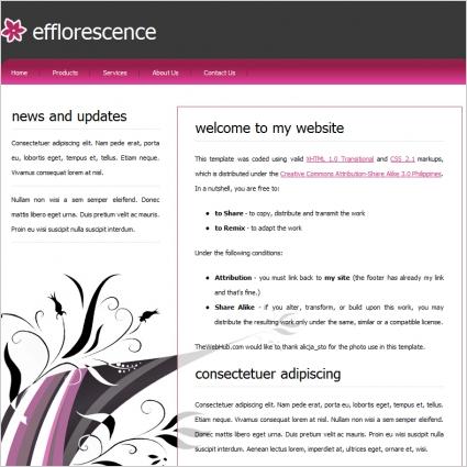 efflorescence Template