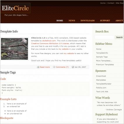 Elite Circle 1.0 Template