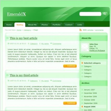 EmeraldX Template